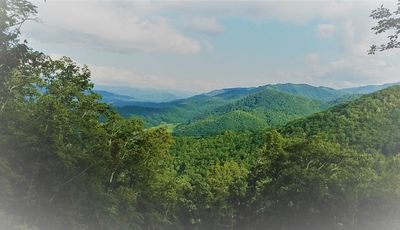 Photo for Mountain Views near Cherokee and Bryson City, NC w/ 1 BR, grill, & firepit
