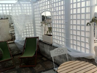 Photo for Romantic Studio 2 steps from the historic center, with terrace overlooking the sea