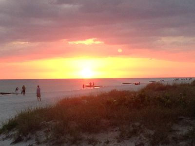 sunset on the gulf of indian shores. this is one of our fav. spots