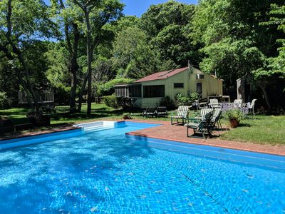 Photo for Secluded Sag Harbor Cottage with a Big Pool and Yard - Just Listed