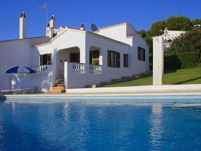 Photo for Menorcan style semi-detached villa, located in a complex with 3 more villas, sharing a pool and a ga