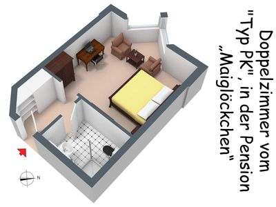 Photo for Offer Double Room - c) Pension Maiglöckchen (Double room incl. Breakfast)