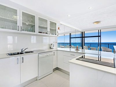 Modern kitech with views as you prepare a meal