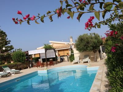 Photo for Villa with swimming pool facing the sea, for those who love peace and privacy