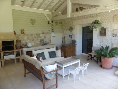 Photo for Stylish comfy french farm with a  heated pool. Vineyards. Family friendly