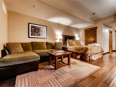 Photo for Cozy Studio w/Fireplace, Private Balcony, Onsite Pool, Hot Tubs & Fire Pit!