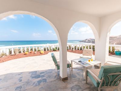 Photo for Villa on the beach Golf Magnificent views of 180º to the beach and sea WIFI free