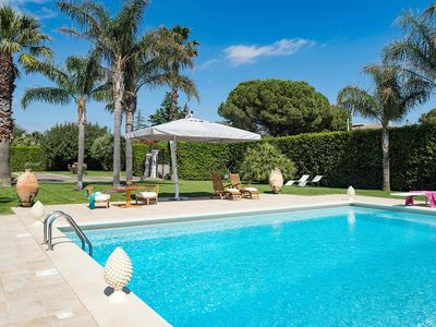 Photo for Villa Seadas in eastern Sicily, with private pool, 5 bedrooms, 12 sleeps