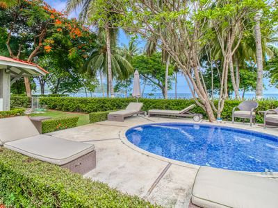 Photo for Beachfront house w/ private pool and terrace!