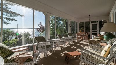 Photo for Charming Lakefront Cottage in one of the best locations on Burt Lake