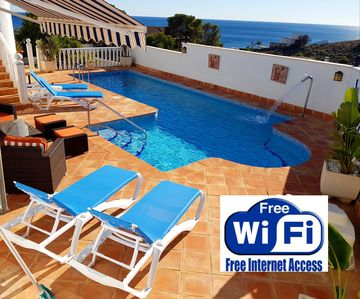Photo for stunning villa. private pool.jacuzzi.amazing sea views. netflix, jacuzzi.wi-fi