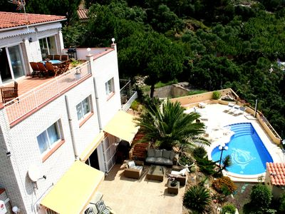 Photo for Lloret de Mar-apartment down, seaview and swimmingpool for max 6 persons