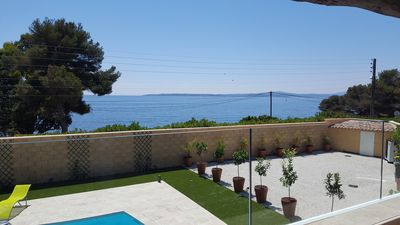 Photo for Villa 8 people sea view with heated pool
