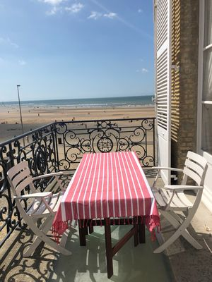 Photo for Roches Noires, 4-room apartment with terrace on Trouville beach