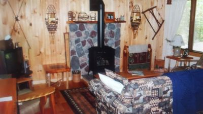 Photo for Cozy Adirondack Cabin across from the Hudson River and minutes to Gore Mountain!
