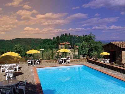 Photo for Apartment in the castle, with restaurant and swimming pool, Ginestra