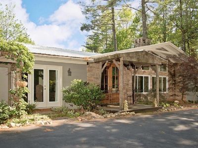 Photo for Pet-Friendly Mountain Retreat with Stream, Deck, Trails, and Mountain Views!