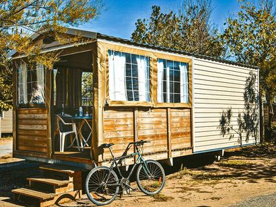 Photo for Camping Aurilandes *** - Mobile home without bathroom 3 Rooms 5 Persons