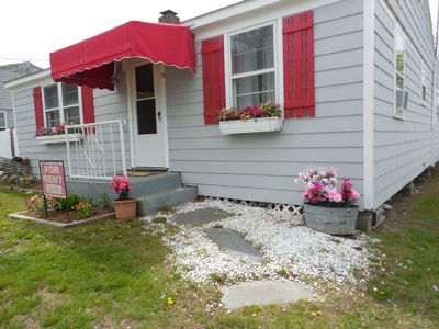 Photo for Charming Beach House in Clinton-steps from sandy private beach-enclosed yard/