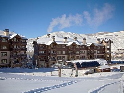Photo for Ski In/Out Luxury Condo. Sleeps 8 in beds!