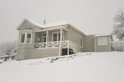 Front in snow