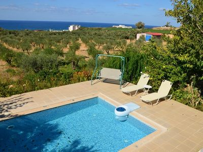 Photo for The Villa Stafro Filitsa No. 19 is located on the northwest coast of Crete near Rethymnon. It is intended for 2 persons and has its own pool. The environment is characterized by natural landscape and is suitable for people who want to enjoy a peaceful holiday not far from the beach.