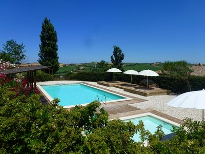 Photo for Casa-Montale, 3/5 Sotto, typical country house, gr. Pool, secluded location, panoramic views