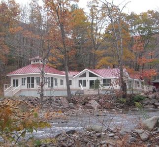 CATSKILL MOUNTAINS RETREAT WITH CREEK FRONTAGE.