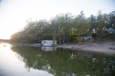 View of cottage #5 and #4 from the dock