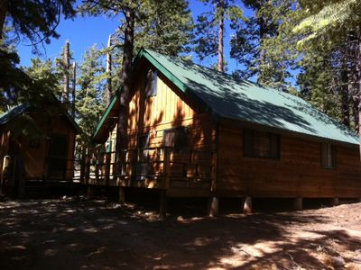 Front view of main Cabin, as well as Sleeping Cabin