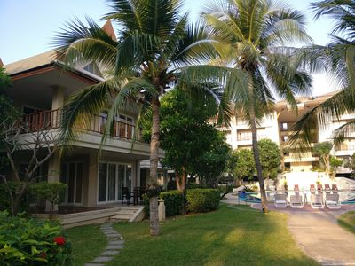 Stunning 3 bedroom villa with private spa, right beside main swimming pool.