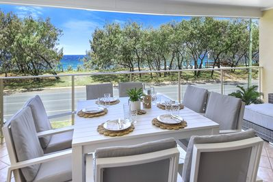 Breakfast , Lunch and Dinner... The view is always  amazing from your Villa