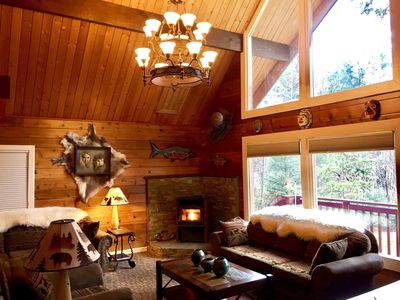 Photo for ONE of SEWARD'S BEST HOMES + LARGE CEDAR SAUNA + FIRE PIT