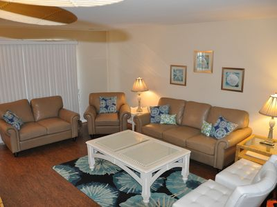Photo for V72 - Beautiful 3BR/2BA, Ocean View! Pet-Friendly! Just one bldg from the beach!