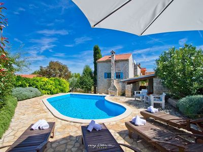 Photo for Beautiful old stone villa with private pool