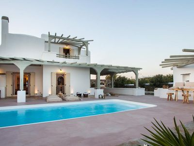 Photo for ELIA GRAND THREE-BEDROOM EXECUTIVE VILLA MYKONOS WITH LOTS OF FEATURES OF A SMART HOUSE, FROM LIGHTING TO HEATING AND TV !