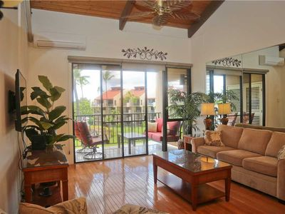 Photo for Ocean and mountain views from this 2bd/2ba condo at Kamaole Sands. Remodeled & A/C throughout. 7-406