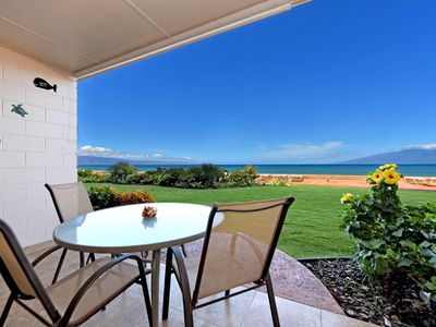 Photo for Makani Sands #107 1brm Beachfront condo in West Maui
