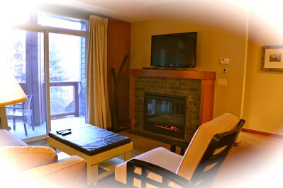 Wrap up yourself with a blanket and sit beside the fireplace... just enjoy!