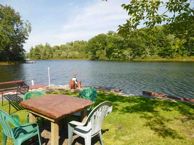 Photo for Lakefront Home, Lakeside Deck, Propane BBQ Grill, VT/Berkshires
