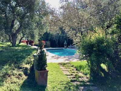 Photo for Beautiful farmhouse apartment in Tuscany with pool access