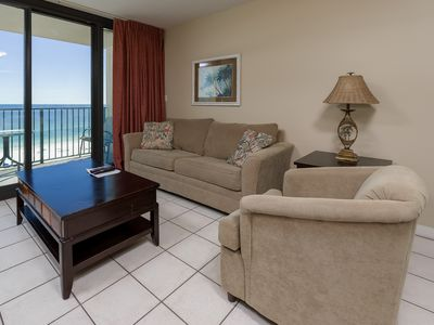 Photo for Low Floor! ~ BEACH FRONT Hotel Suite ~ FULL KITCHEN!