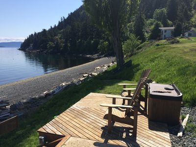 Beach deck…great spot for morning coffee!