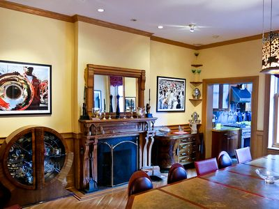 Dining Room Mantel And Fireplace