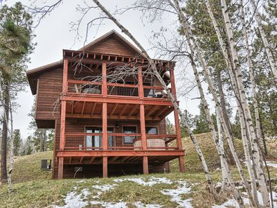 Photo for Modern Rustic Cabin with Swimming Pool Access-Paved Roads-8 Miles to Deadwood
