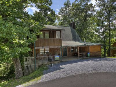 Photo for Cozy two bedroom, two bath cabin, sleeps 6 with Pool Table, 60 Arcade Game in 1,