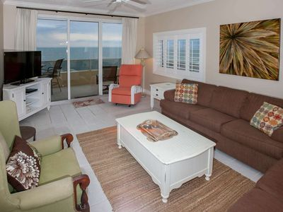 Photo for Corner Gulf-front 3/3, Slps 10, Blcny, WiFi, W/D, Pool/Tennis/BBQ, Free Activities-The Enclave 1007