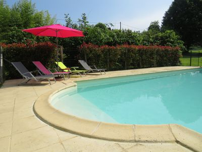 Private, secluded 10x5m pool for the sole use of the gîte guest