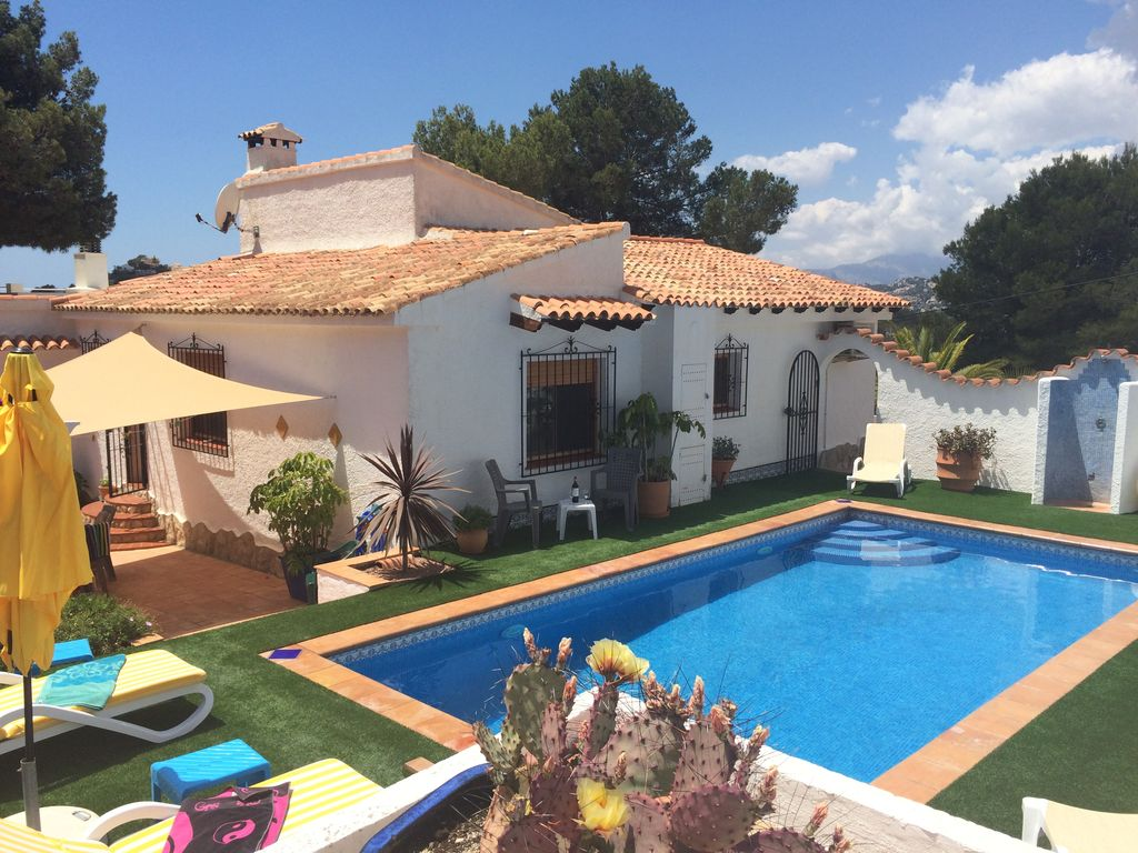 Holiday Villa With Heated Pool Spa For 6 People In Moraira Canor Alicante Province