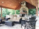 Cabana -sink -gas assist fire place -gas grill (green egg not for use)